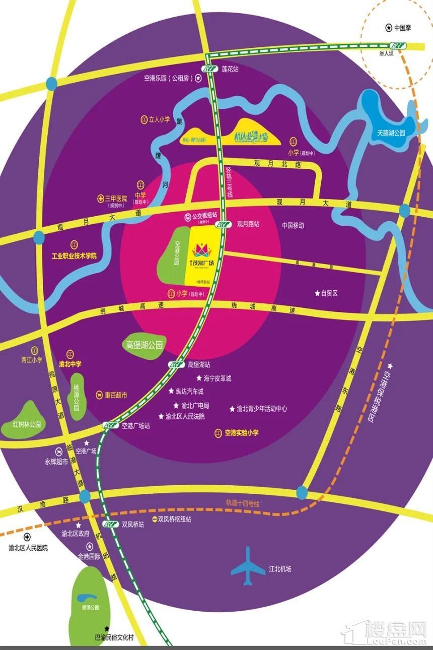 桥达·茂宸广场位置图