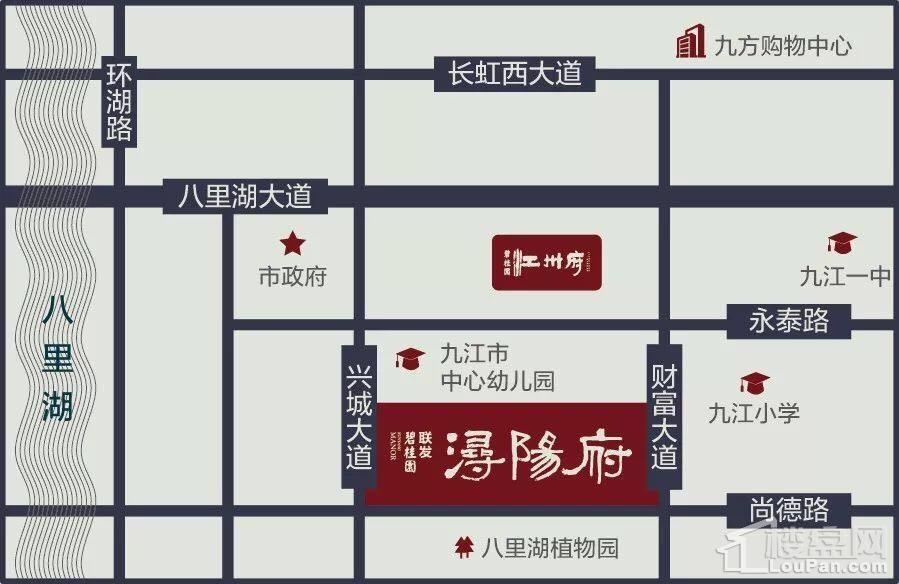 碧桂园联发·浔阳府位置图
