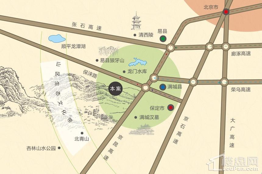秀兰山庄生态园位置图