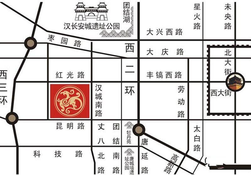 宏府鹍翔九天商铺位置图
