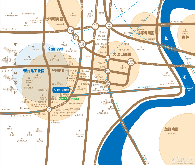 中冶熙城商街位置图