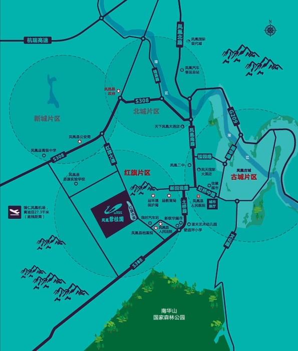 凤凰碧桂园位置图