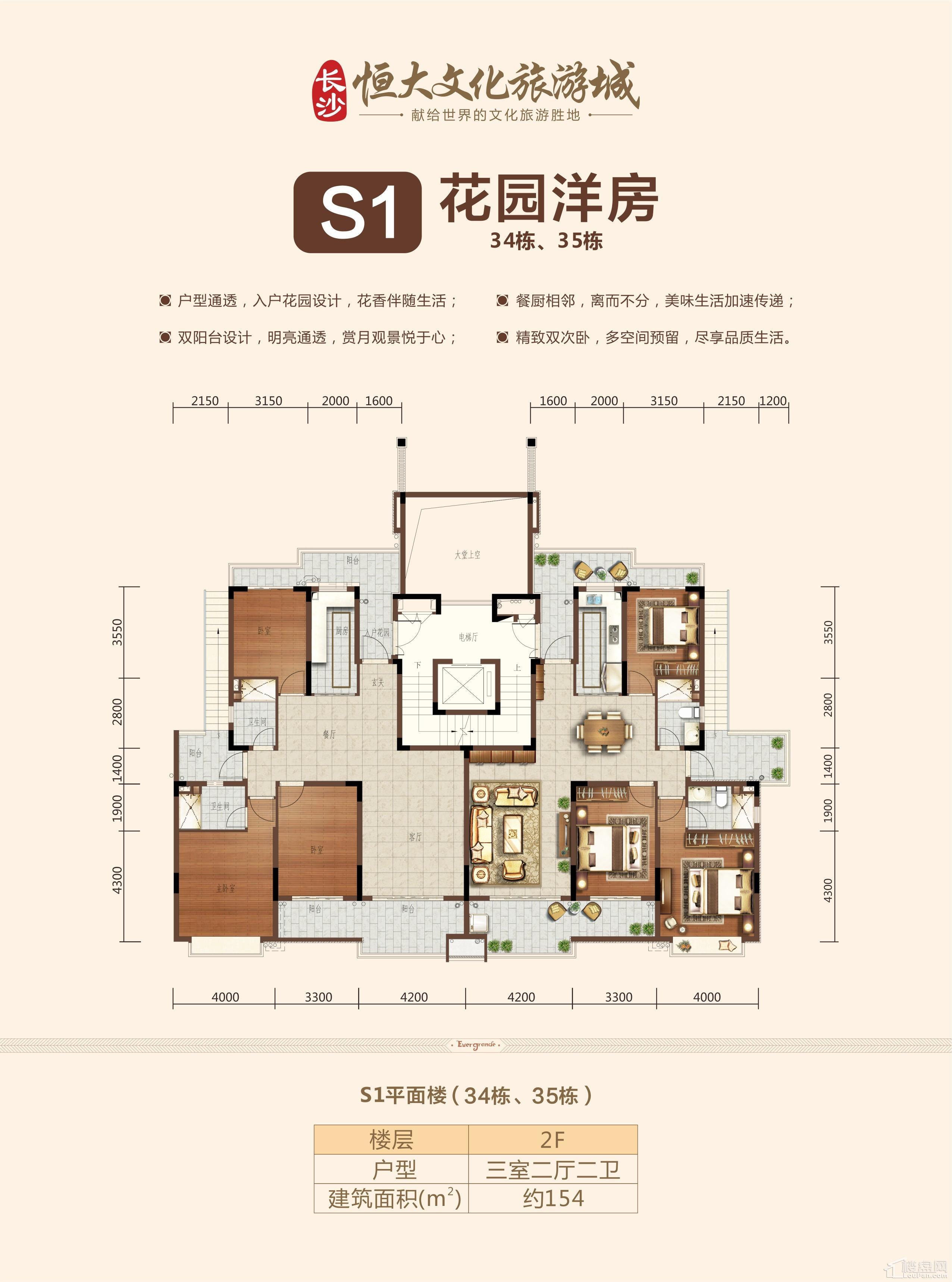 S1花园洋房二层