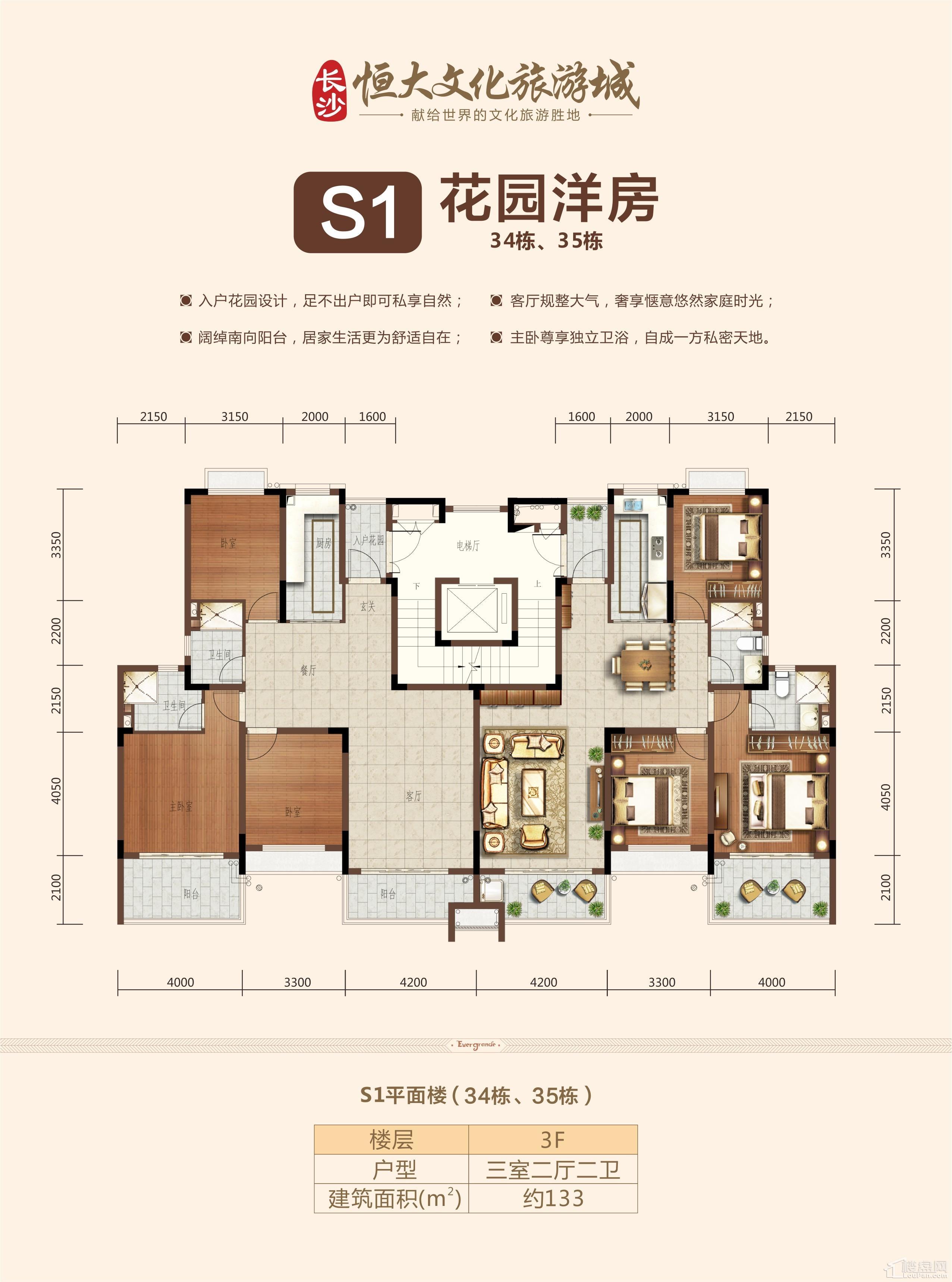 S1花园洋房三层
