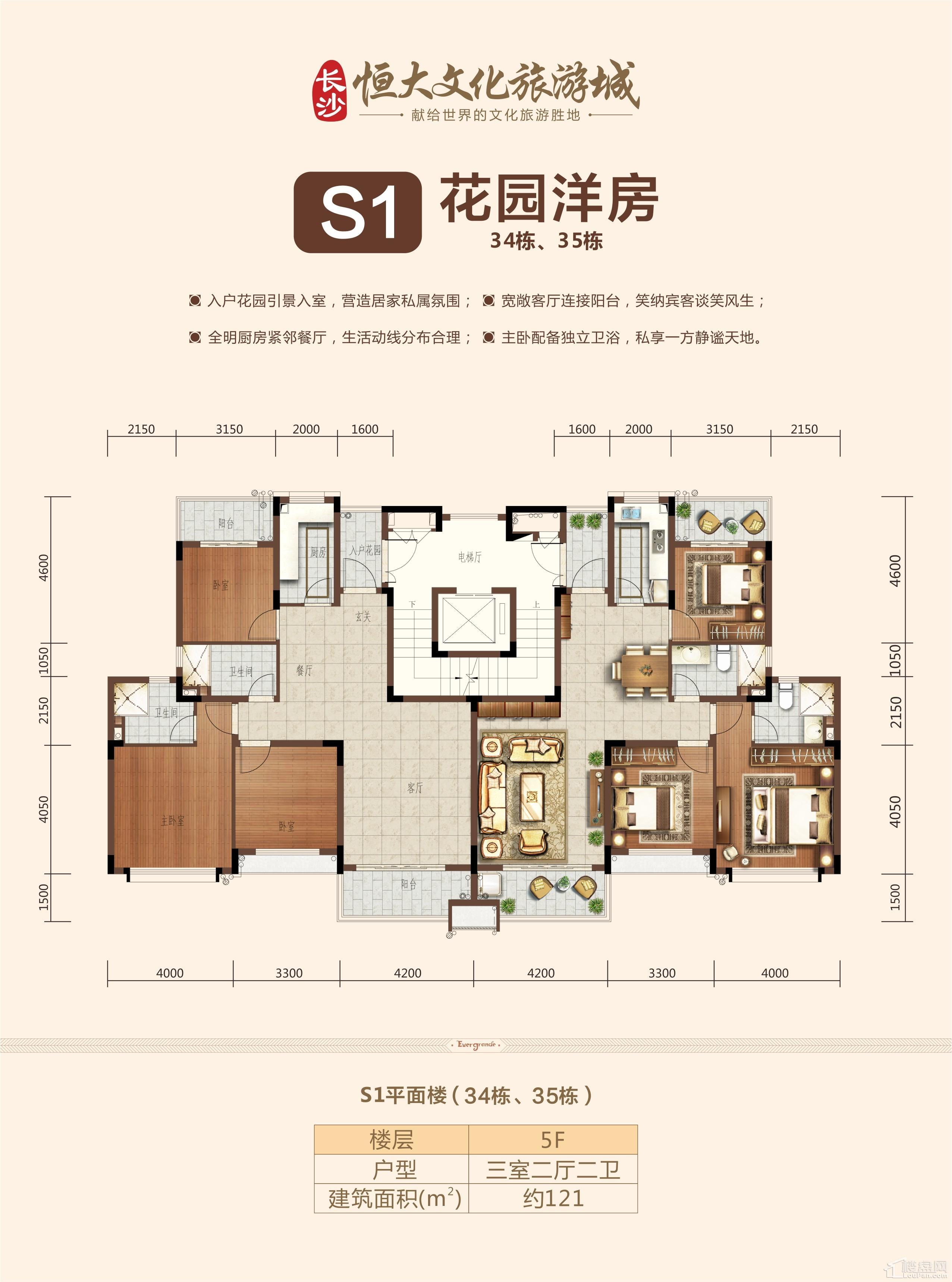 S1花园洋房五层