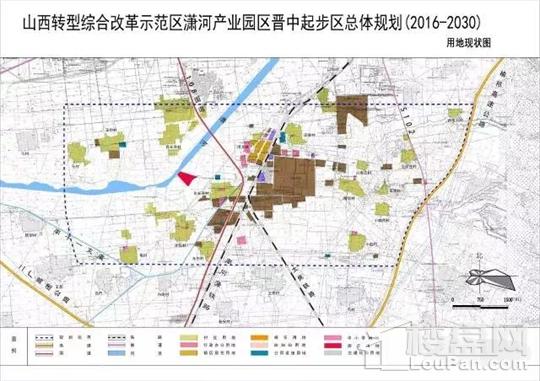 榆次规划区域范围图及现状