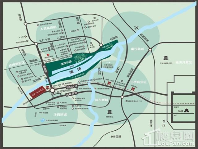 咸阳绿城春江花月位置图
