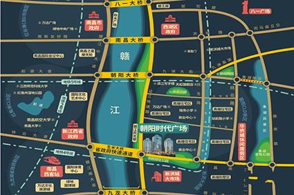 朝阳时代广场位置图