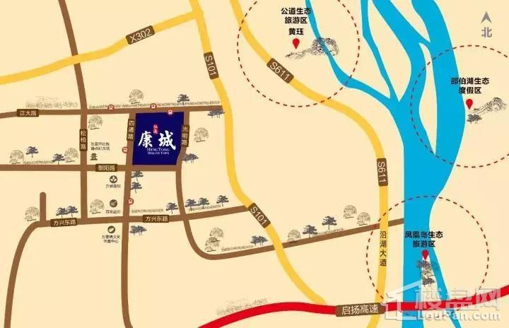 恒通康城位置图