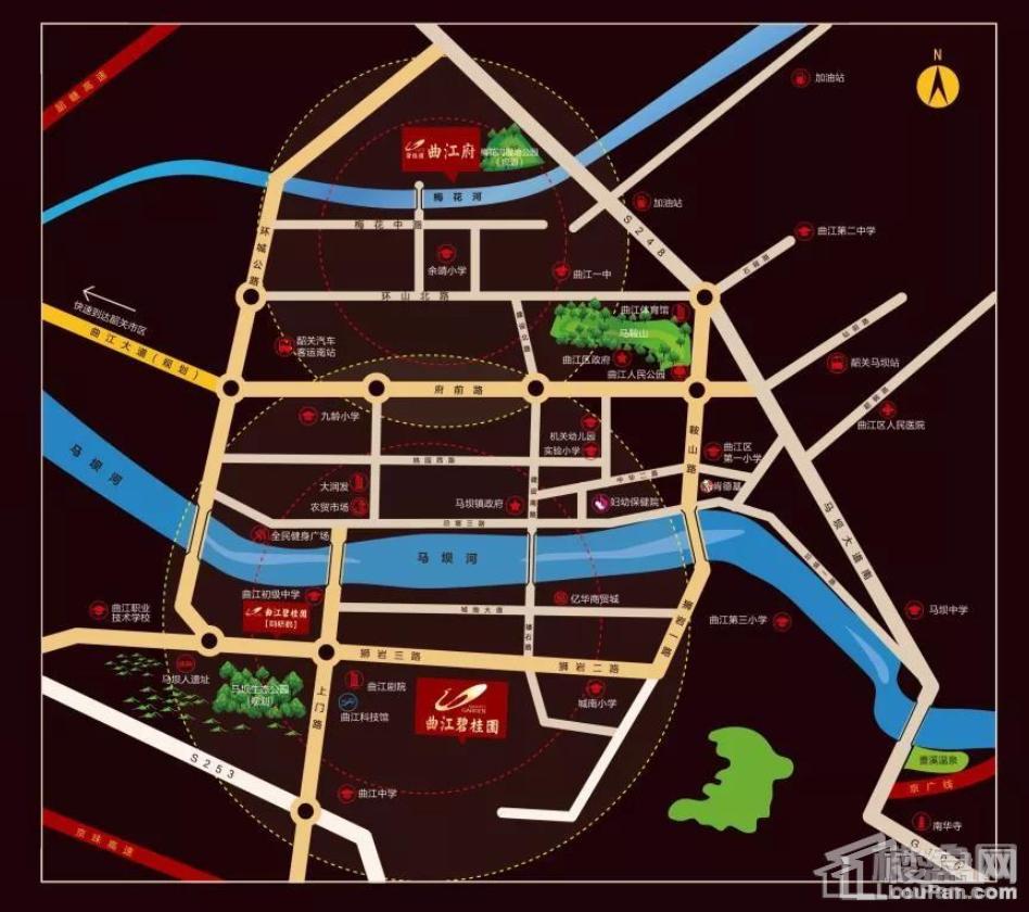 曲江碧桂园位置图