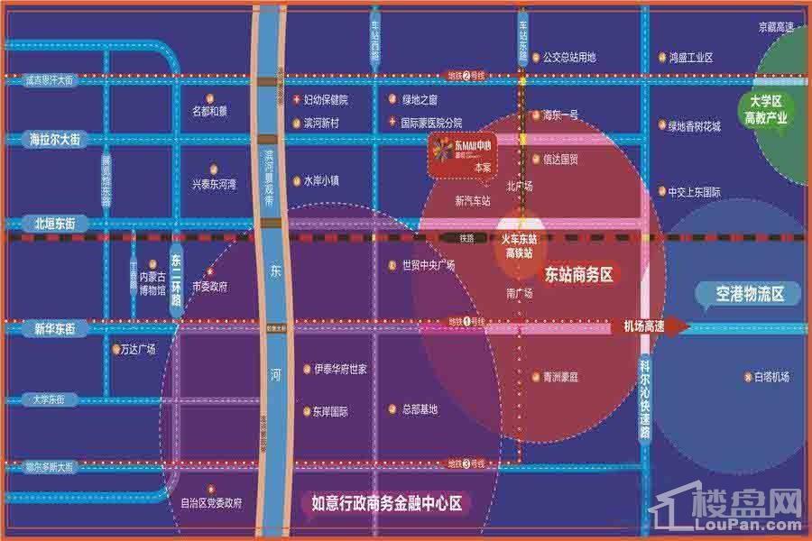 富恒·东MALL中心位置图