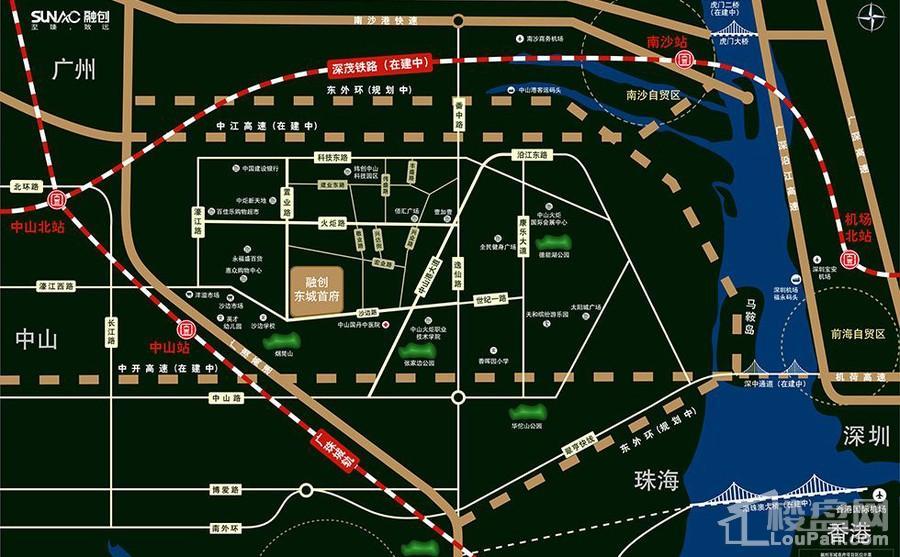 融创东城首府位置图