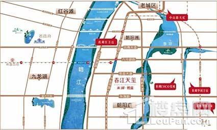 龙湖煌盛春江天玺位置图