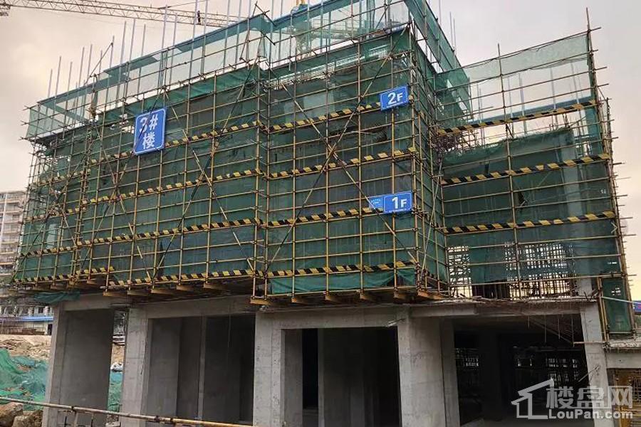 碧桂园星荟3#楼已建设至2层左右(摄于2018-5)