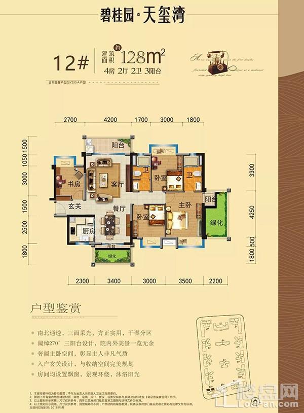 碧桂园天玺湾12#楼Y253-A