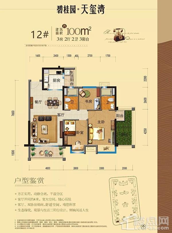 碧桂园天玺湾12#楼Y253-B