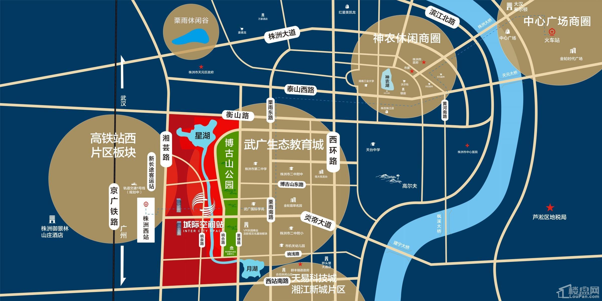 绿地城际空间站位置图