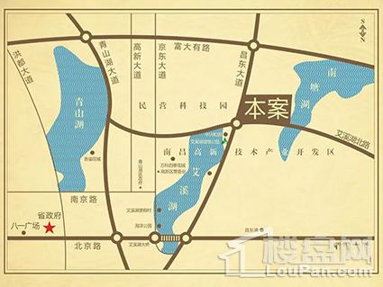 城泰湖韵天成位置图