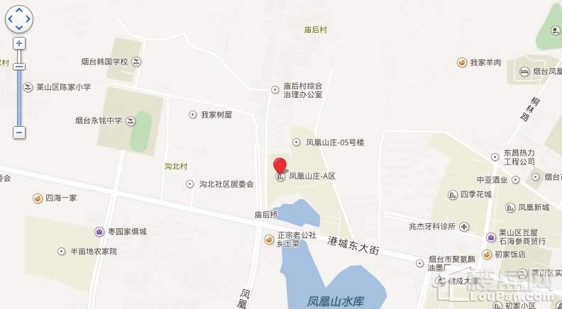 凤凰山庄区位交通图