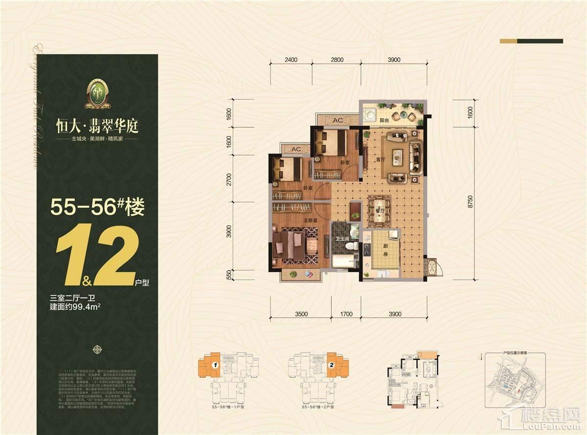 55-56#楼1&2户型