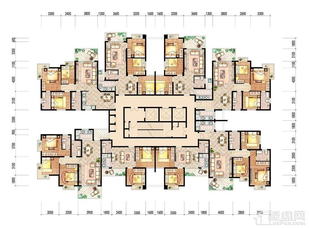 5号楼标准层总图