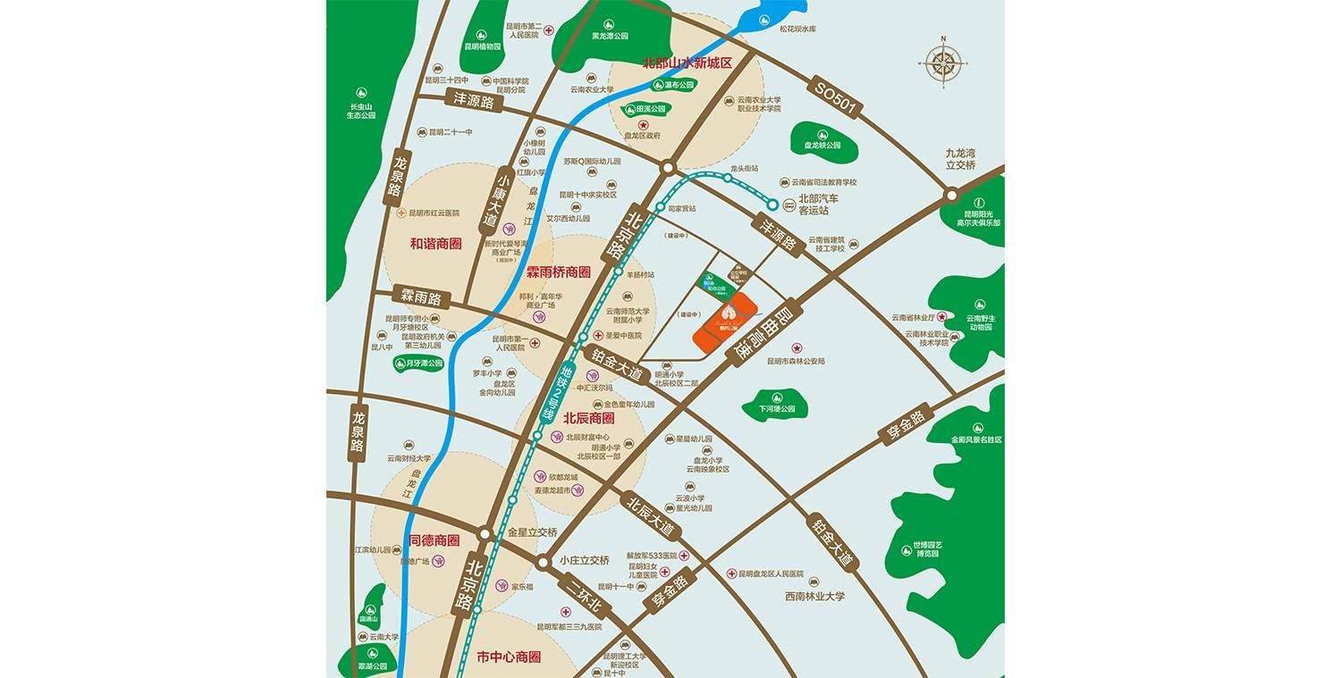 蓝光·林肯公园位置图