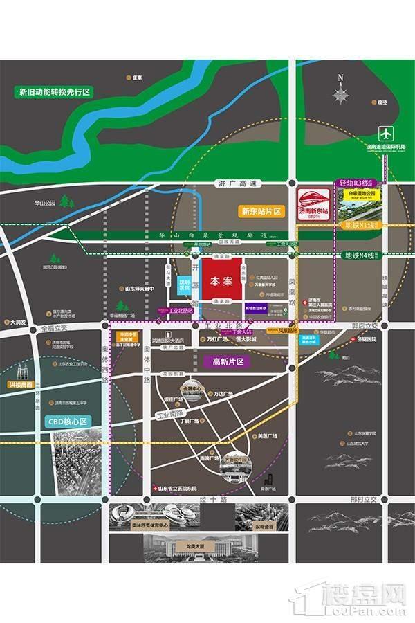 新城·香溢华庭位置图