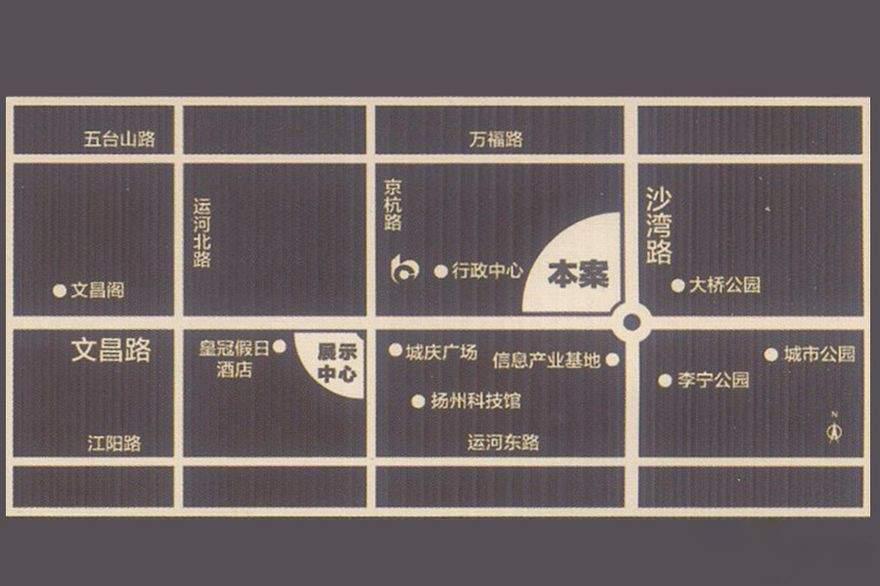 泰达赢+国际公寓位置图