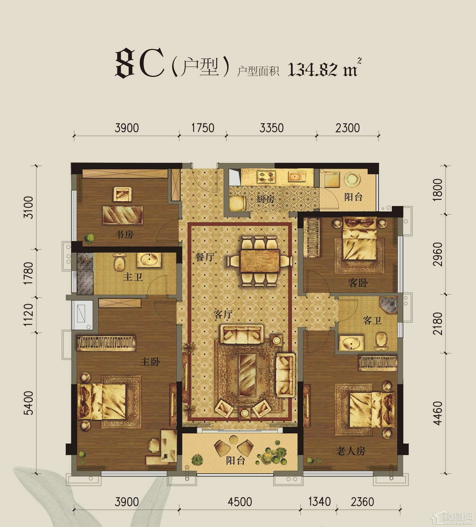 美泉1612 8#楼C户型图