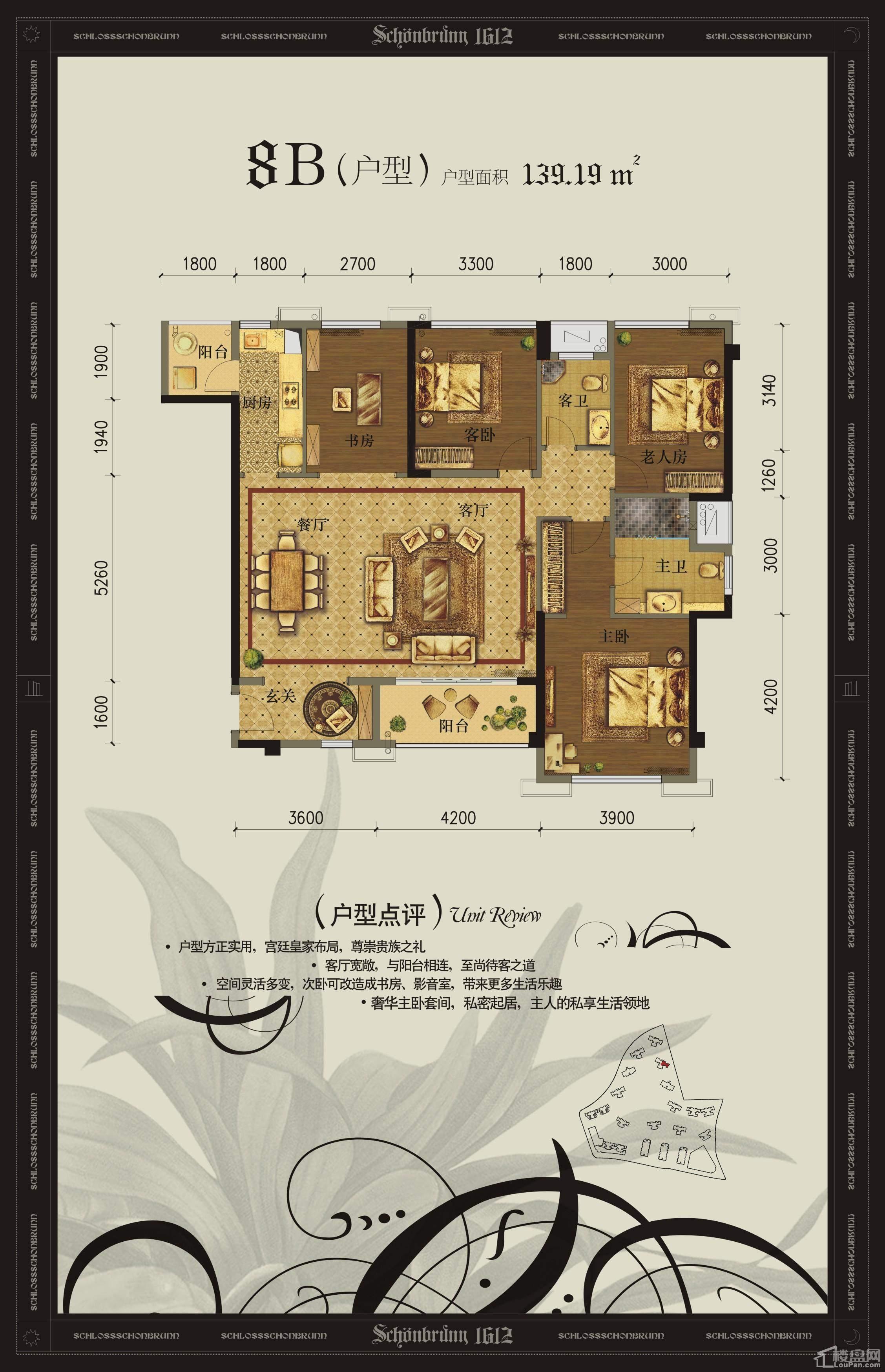 美泉1612 8#楼B户型图