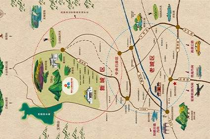 腾冲·启迪冰雪小镇位置图