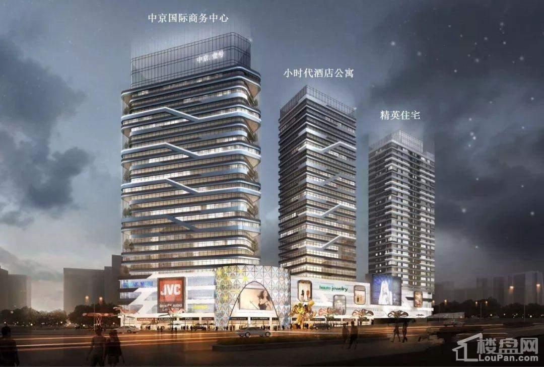 中京1号夜景效果图