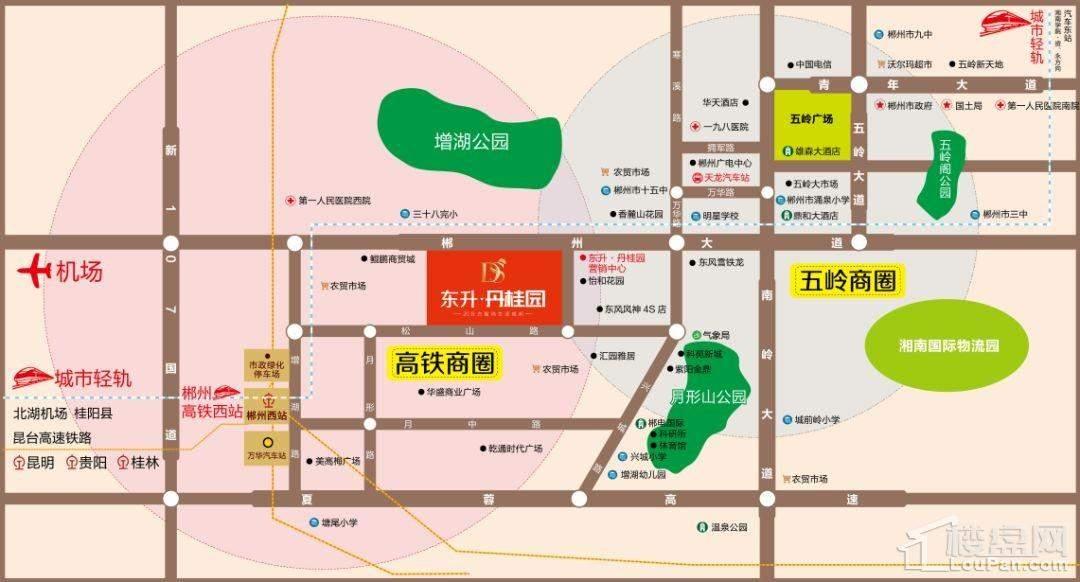 东升·丹桂园位置图