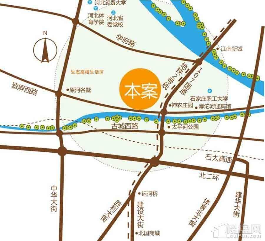 国际总部花园位置图