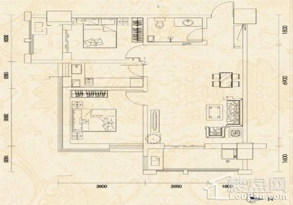 紫兰泊寓户型图