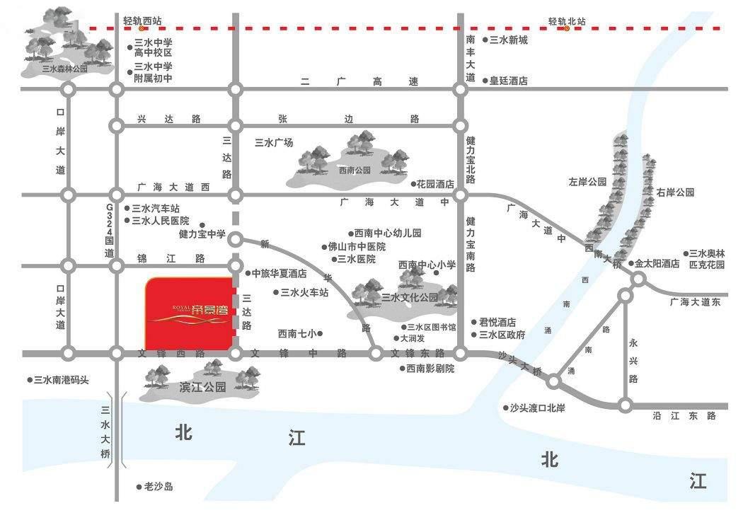 三水帝景湾位置图