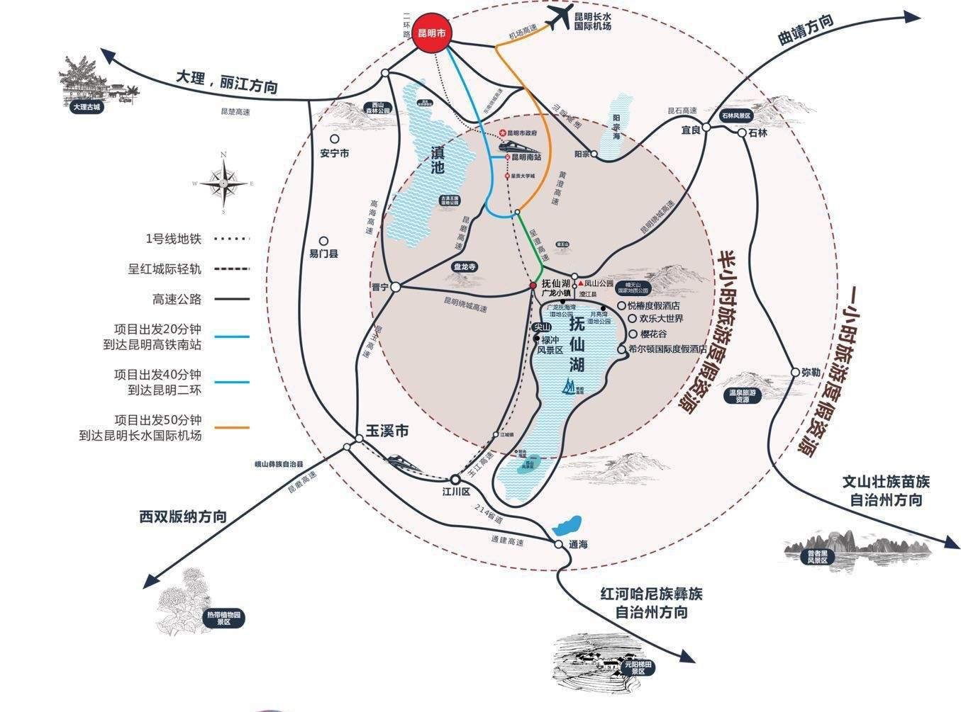 抚仙湖 广龙小镇位置图