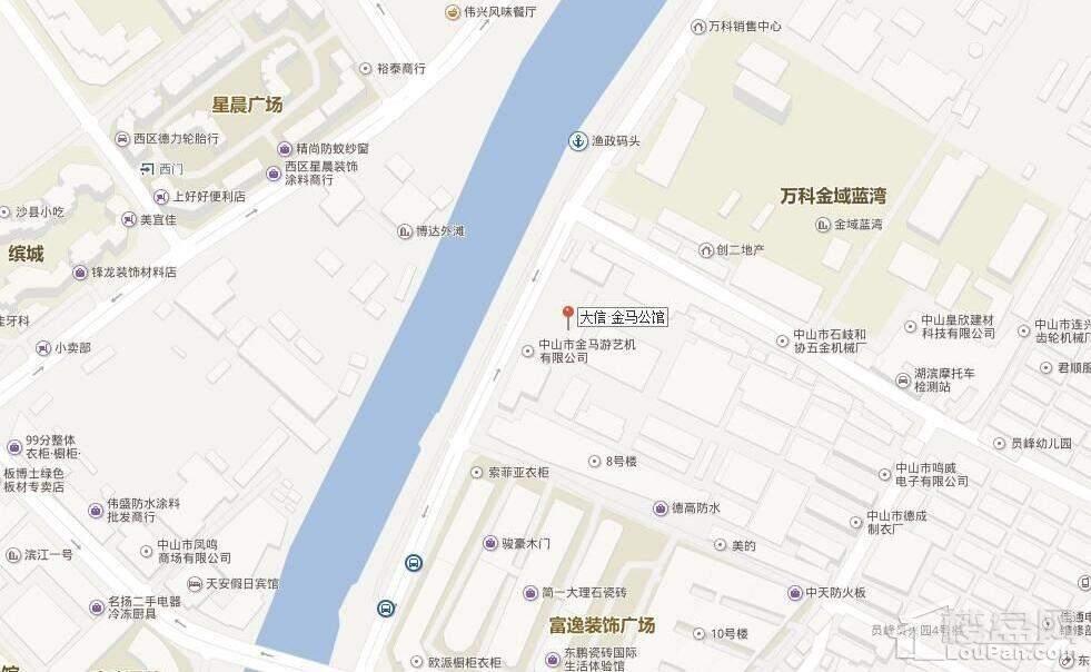 大信·金马公馆位置图