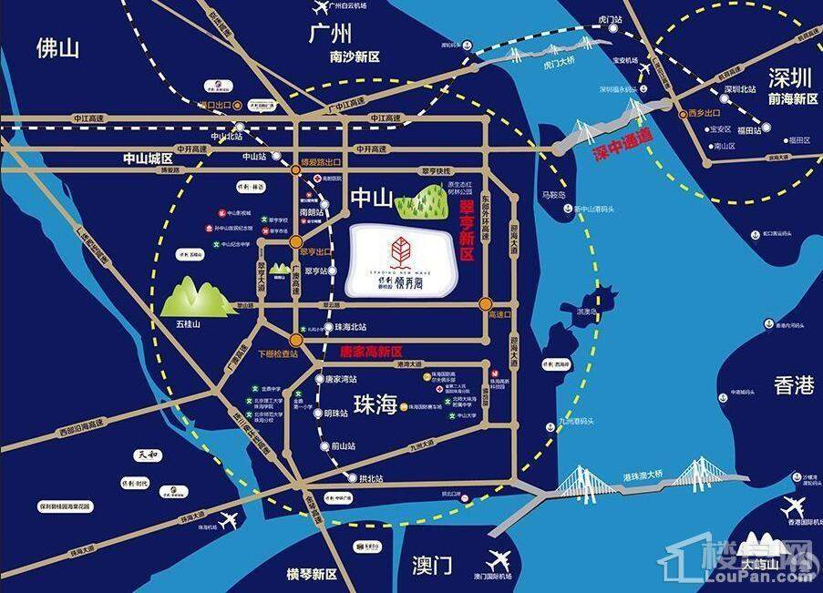保利碧桂园领秀海位置图