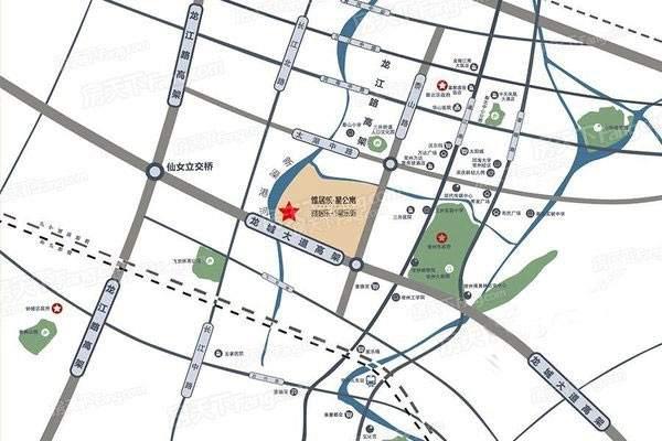 雅居乐星乐街星公寓位置图