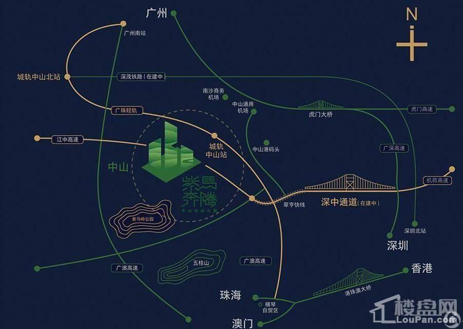 紫马奔腾中央生态公园位置图
