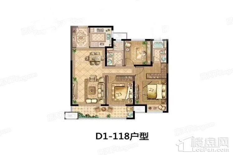 D1-118户型