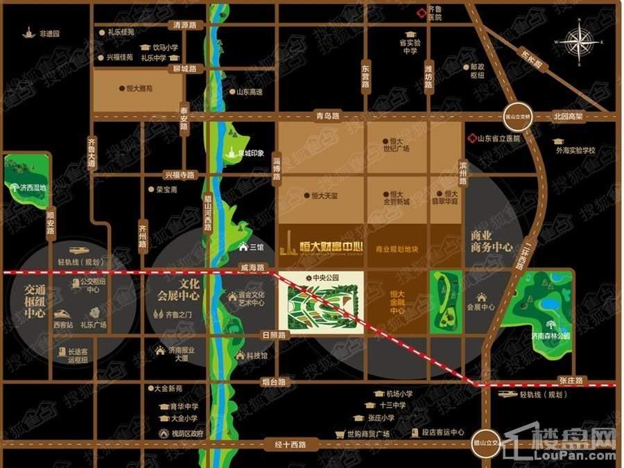 济南恒大财富中心位置图