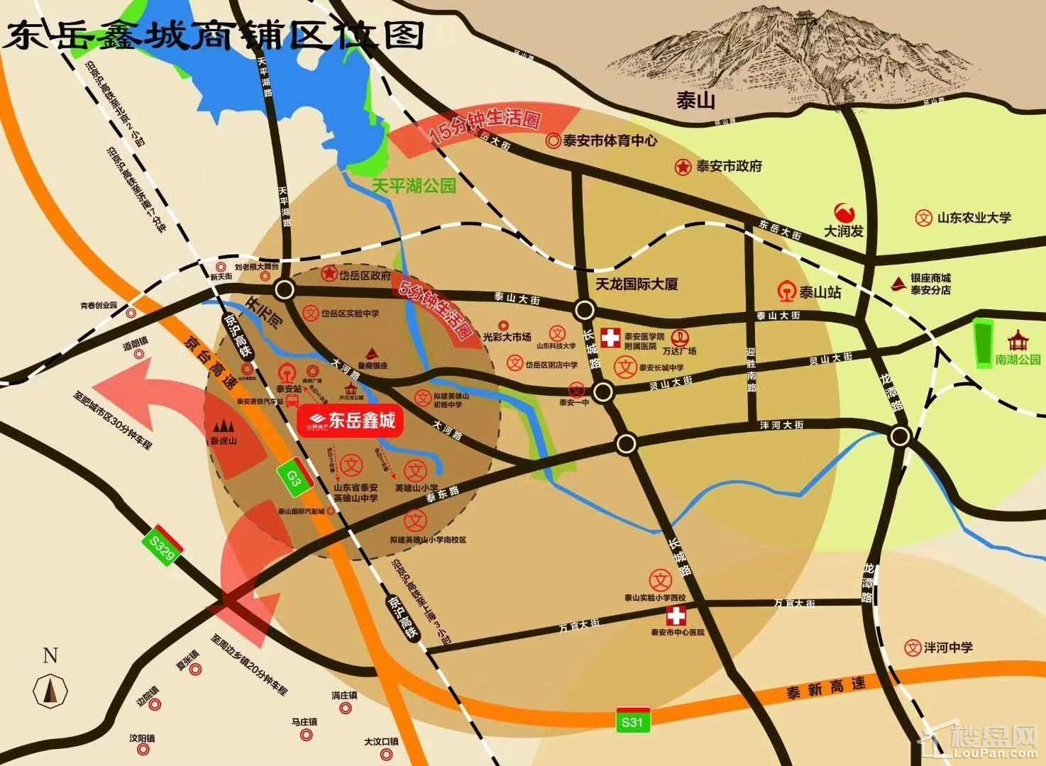 东岳鑫城位置图