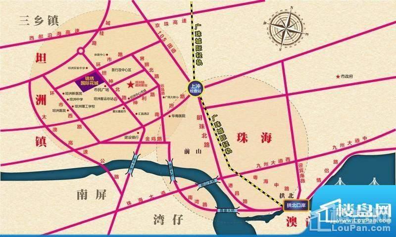 锦绣国际花城位置图