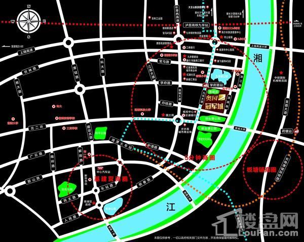 湘潭奥园冠军城位置图
