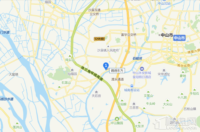 广物锦绣东方位置图