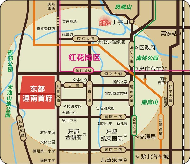 东都·遵南首府位置图
