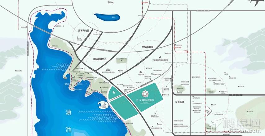 中国滇池花田国际度假区位置图