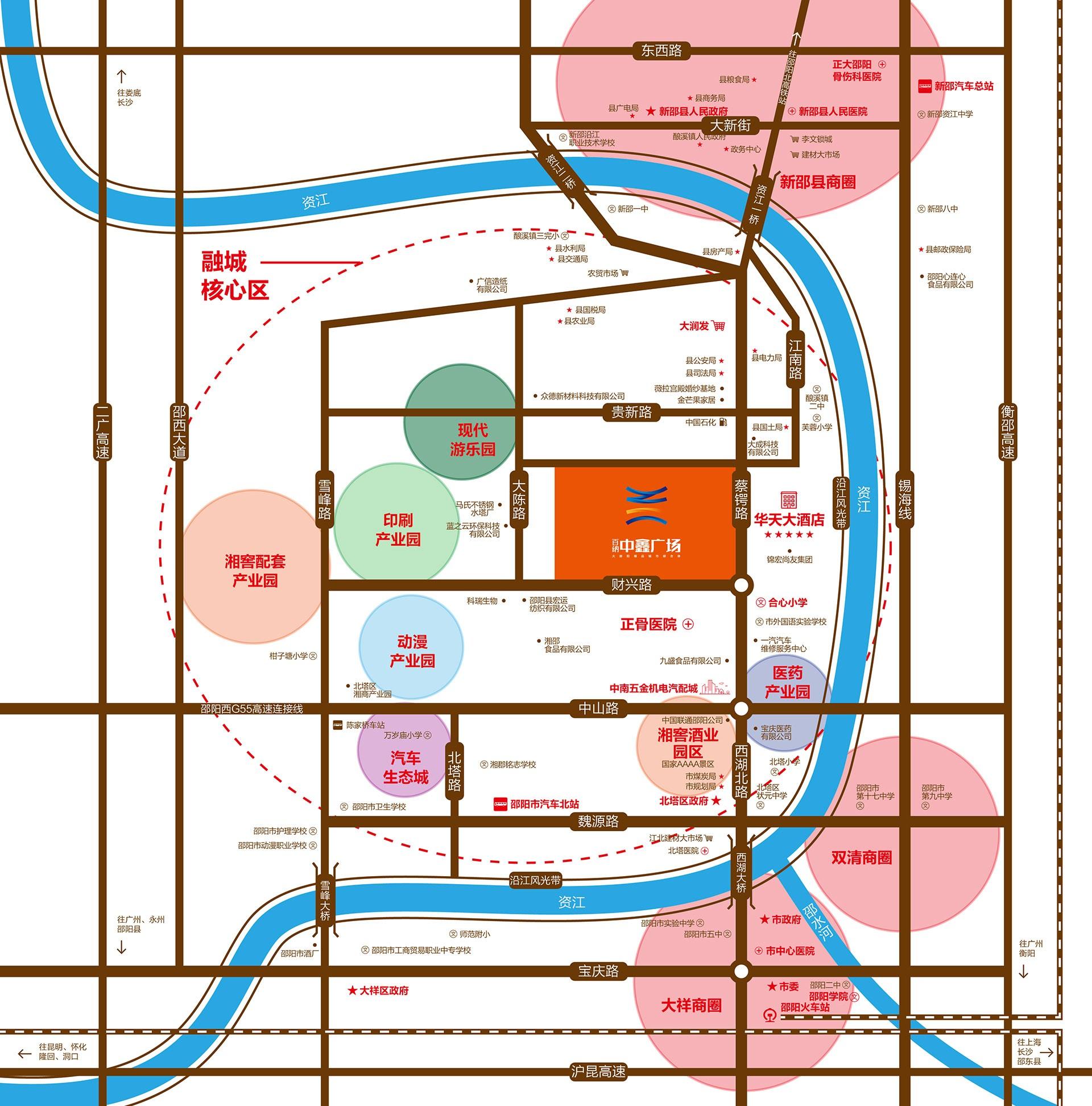 百纳中鑫广场位置图